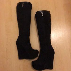 Shoes - Black Suede - Boots